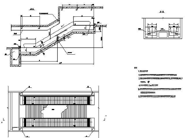 [江苏]地铁电扶梯施工初步设计图10张CAD