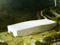 浙江音乐学院体育馆空间折板桁架结构设计论文
