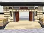 王府居住区小区大门景观SU模型设计