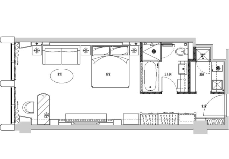 [浙江]龙禧中心酒店式公寓设计施工图(附效果图)