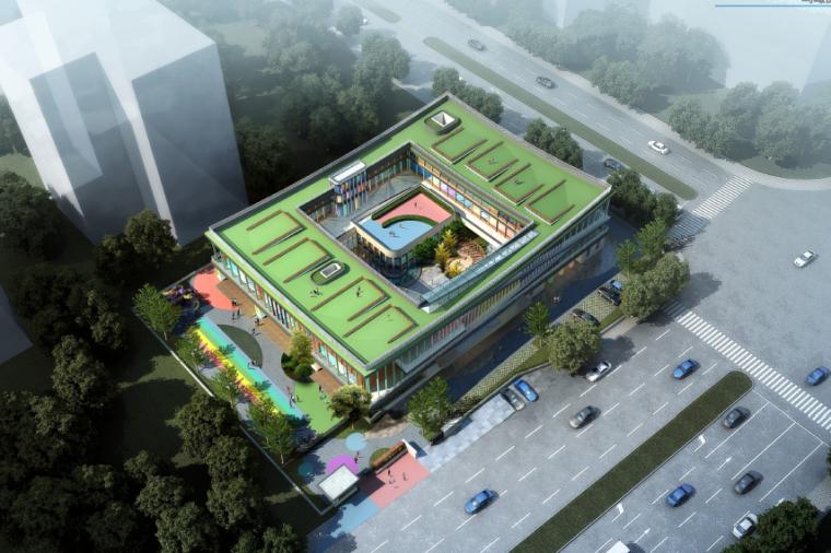 [江苏]工业园区国际现代庭院式幼儿园建筑设计方案文本