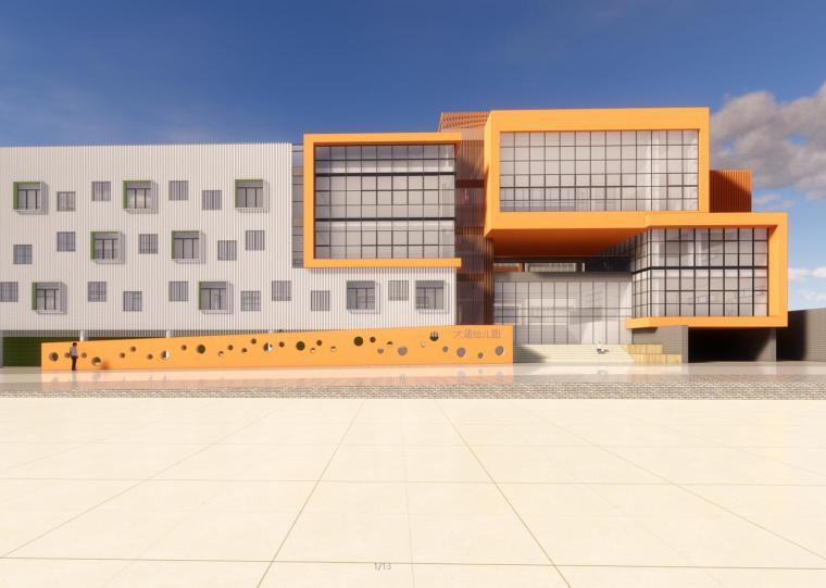 华润现代风格大涌幼儿园建筑模型(2018年)