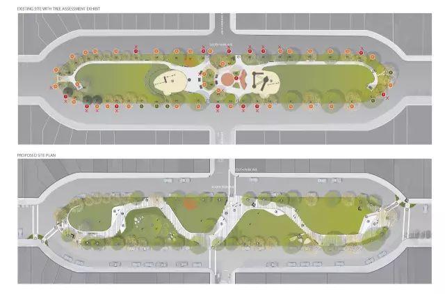 旧金山南公园改造景观— 一个灵活而又能互动的空间!