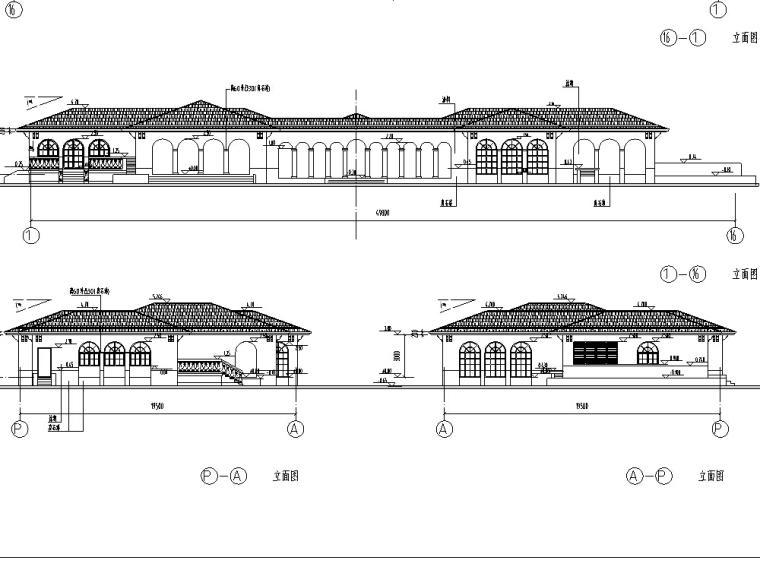 独栋配套健身中心文体建筑设计方案施工图CAD