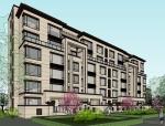 新亚洲风格住宅建筑模型