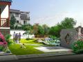 (原创)住宅院子 别墅院子设计案例效果图