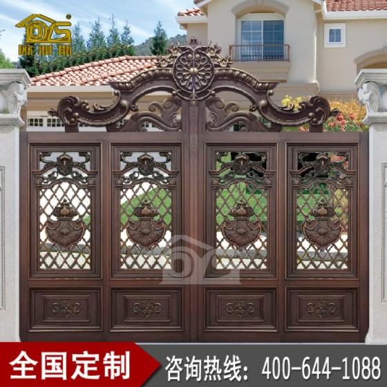 欧雅斯推拉庭院门铝艺大门焊接铝合金大门定制