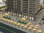 泰式商住楼建筑设计模型