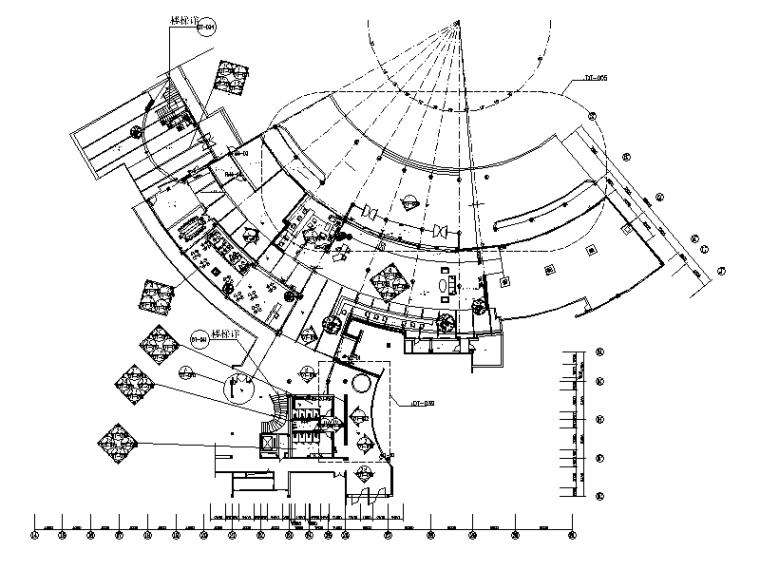 [福建]某休闲度假酒店设计CAD施工图(含效果图)-【福建】某休闲度假酒店设计CAD施工图(含效果图)平面图