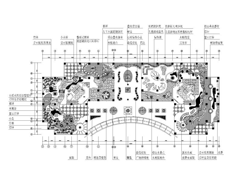 某屋顶花园景观设计 D-1平面图