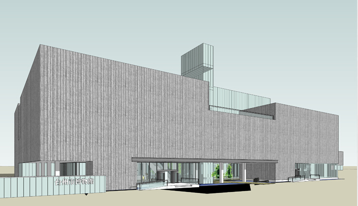 台州市博物馆室内室外完整设计方案sketchup模型