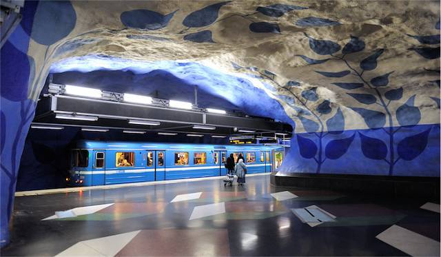 世界最美地铁景观,美到让你不想回家_5