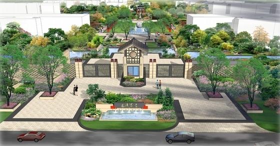 [山西]现代中式皇家园林风格住宅景观设计方案(独家首发)-皇家园林风格住宅景观效果图
