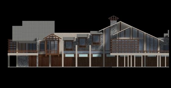 传统民居住宅区规划设计立面图