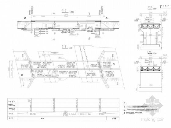 [国外工程]9m宽3x25m钢混叠合梁桥设计图33张(知名大院)