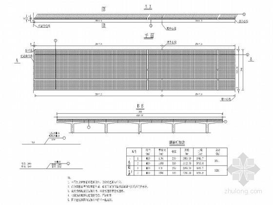 装配式预应力混凝土T梁桥桥面现浇层钢筋布置图