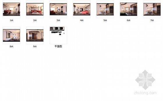 简约时尚现代风格两居室装修图(含效果图) 总缩略图