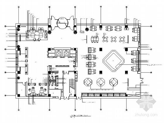 [内蒙古]高档欧式风格酒店会所餐厅大堂装修CAD施工图(含效果图)