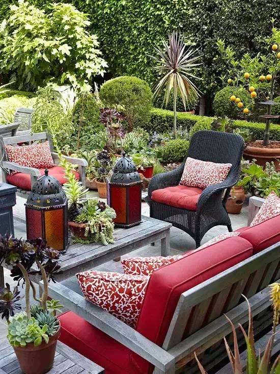 兮木景观:别墅庭院设计中色彩的搭配常识