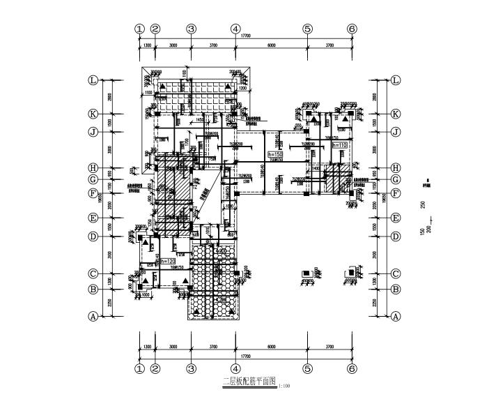 3层现浇框架结构别墅住宅楼结构施工图(CAD,10张)