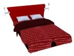 简单双人床3D模型下载
