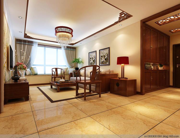 建筑面积:109平米 装修风格:新中式
