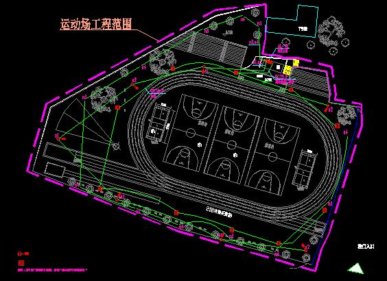 【广东】学校塑胶面层运动场及周边设施维修工程预算书(含图纸)_2