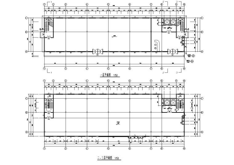 5套现代多层宾馆酒店建筑设计施工图CAD-现代多层宾馆酒店建筑平面图2