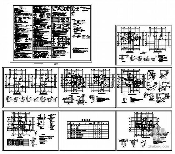某异型柱框架别墅结构图