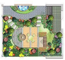 某高手设计的几套手绘庭院方案图