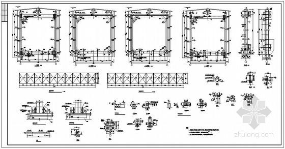 某钢檐沟软件土建设计图结构算量栈桥中桁架的绘制图片