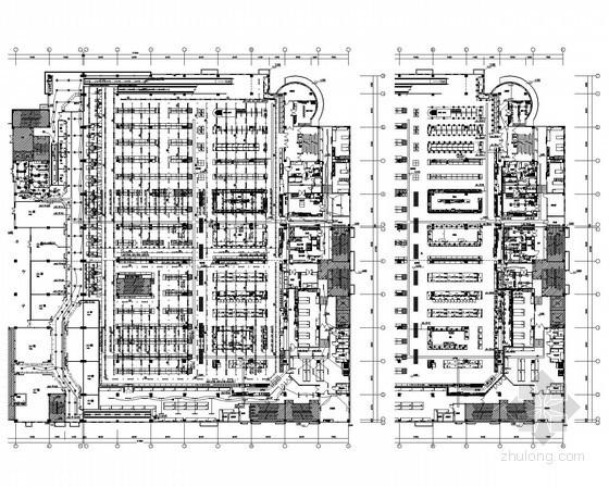 [江苏]大型二层连锁超市电气施工图纸