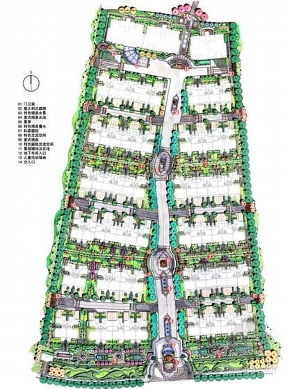 欧式式居住小区方案资料下载-[苏州]住宅小区局部区域景观设计方案
