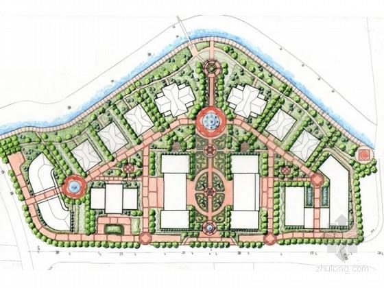 [上海]欧式风格办公区景观概念规划设计