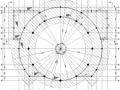 圆形天井框架商场结构施工图