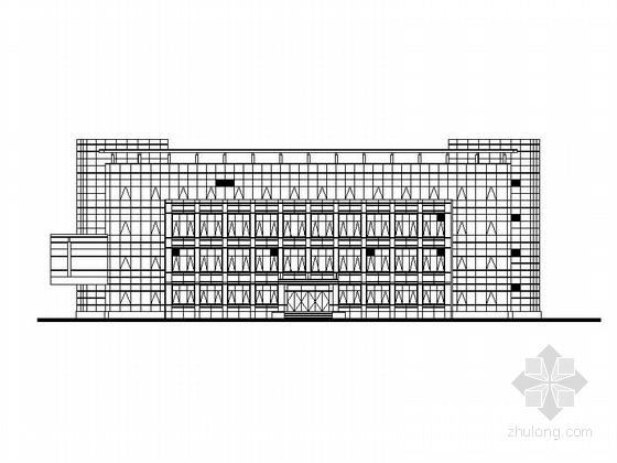 [江苏]多层幕墙式老干部活动中心建筑施工图