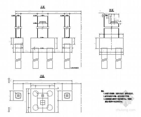 悬索-斜拉协作体系过渡墩一般构造节点详图设计