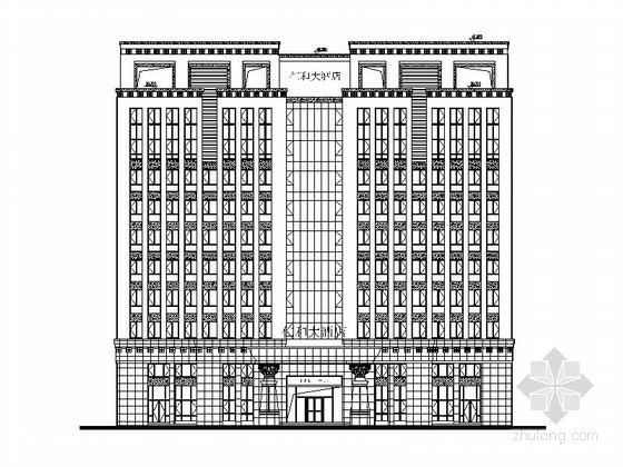 [江西]十层现代风格酒店建筑设计施工图