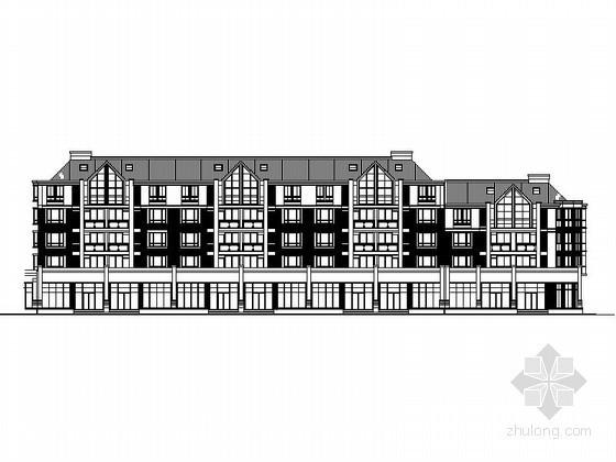 [上海]某五层沿街商住楼建筑扩初图