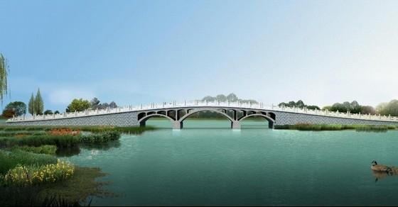 [浙江]2015年设计8m+12m+8m上承式多跨无铰空腹式拱桥设计图纸35张
