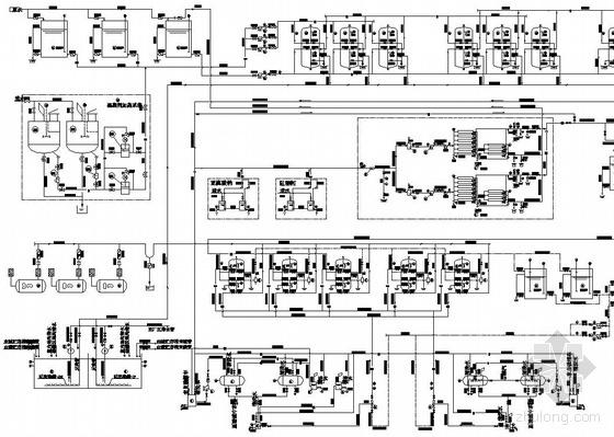2x45t/h反渗透工艺锅炉补给水处理系统图