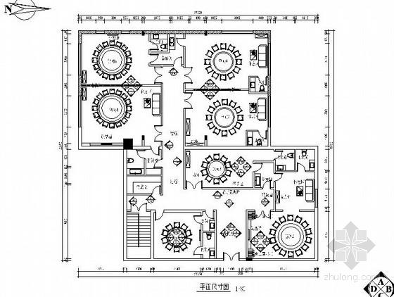 [陕西]浓郁西北风情中式风格餐厅室内施工图(含效果图)