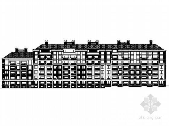 某6+1层板式住宅楼建筑扩初图