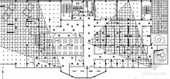 某三层宾馆平面及顶面图