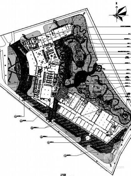 [厦门]酒店周边环境景观设计施工图