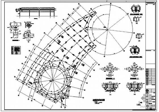 郑州某展览温室结构设计图