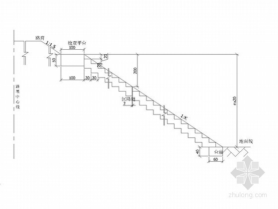 检查台阶构造图