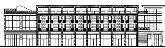 某四层中心广场店铺建筑施工图