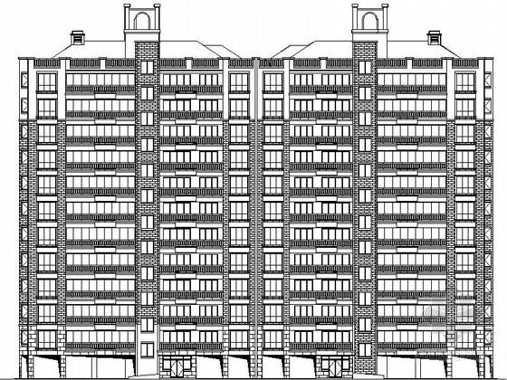 [湖南]某十二层简欧式板式住宅楼建筑施工图(南梯)