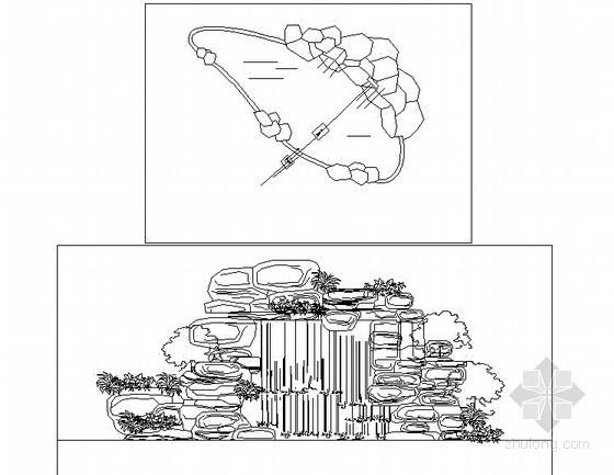 假山水池施工详图